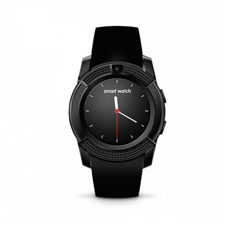 Bass V8 okos óra fekete - Sport funkció,sim foglalat,kamera, android és ios telefonokra egyaránt.