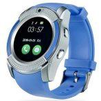 Bass V8 okos óra kék - Sport funkció,sim foglalat,kamera, android és ios telefonokra egyaránt.