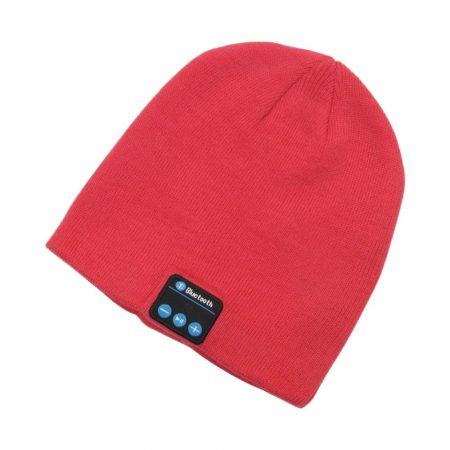 Piros bluetooth sapka -Hallgass zenét könnyen a téli hónapokban is .