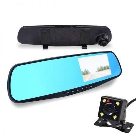 Visszapillantó tükörbe épített érintős tolató és eseményrögzítő kamera - 2 IN 1 - kényelem és biztonság a legalacsonyabb áron