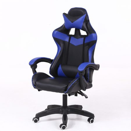 RACING PRO X Gamer szék , kék-fekete Ingyenes szállítással-Sokat vagy fent a neten? Vége az elgémberedett ízületeknek.