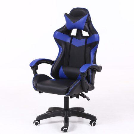 RACING PRO X Gamer szék , kék-fekete -Sokat vagy fent a neten? Vége az elgémberedett ízületeknek.