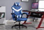RACING PRO X Gamer szék  , fehér-kék Ingyenes szállítással