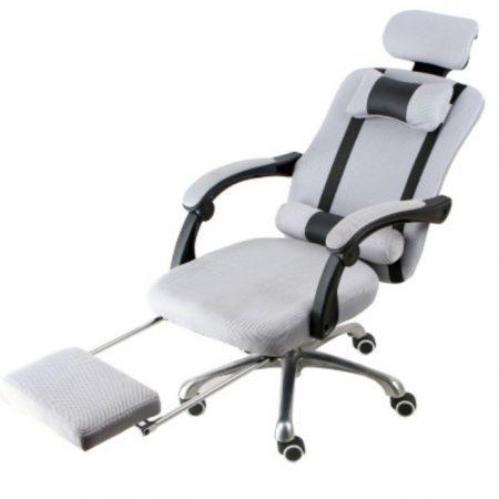 Elnöki forgószék Lábtartóval , szürke -Kényelem és komfort,ergonomikus kialakítás!