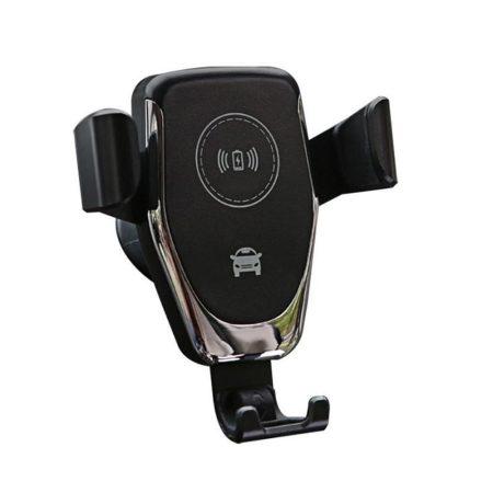 Autós Qi töltőállvány, fekete - Töltsd és tartsd egy helyen könnyedén , vezetéknélküli töltés.
