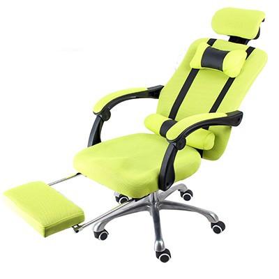 Elnöki forgószék lábtartóval , Limezöld  -Kényelem és komfort,ergonomikus kialakítás!