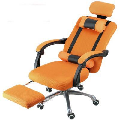 Elnöki forgószék lábtartóval , Narancs szín-Kényelem és komfort,ergonomikus kialakítás!