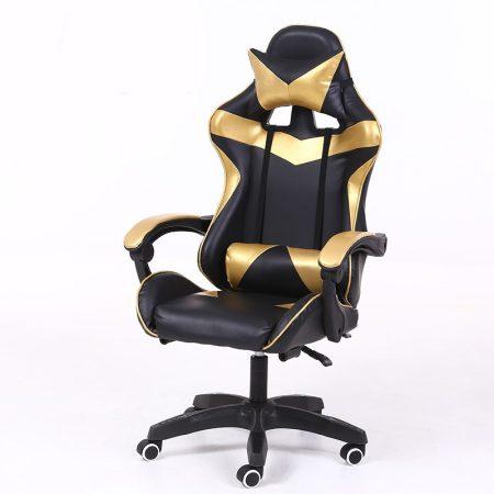 RACING PRO X Gamer szék , Arany-Fekete-Sokat vagy fent a neten? Vége az elgémberedett ízületeknek.