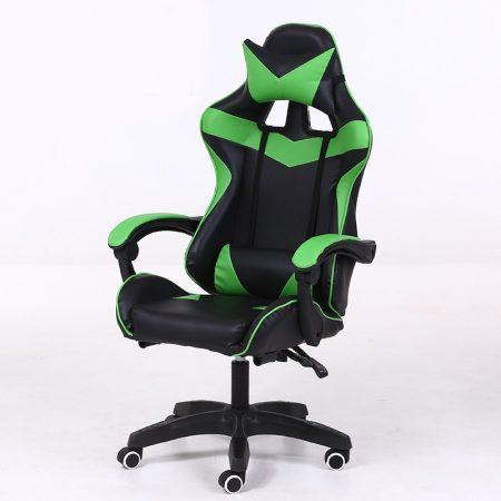 RACING PRO X Gamer szék , Zöld-Feket-Sokat vagy fent a neten? Vége az elgémberedett ízületeknek.