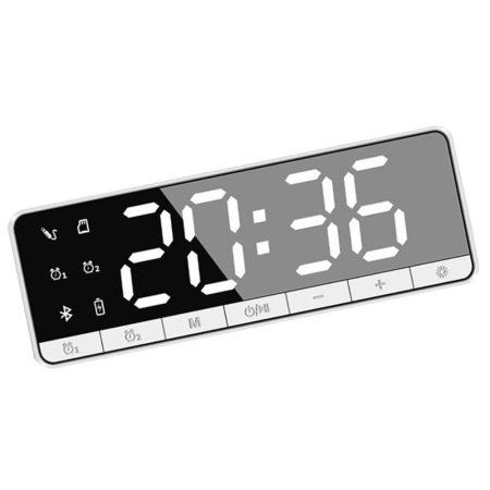 Bluetooth-os digitális ébresztőóra - fehér