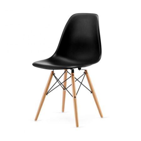 4 db modern szék konyha, nappali, étkező vagy kültéri használathoz-fekete