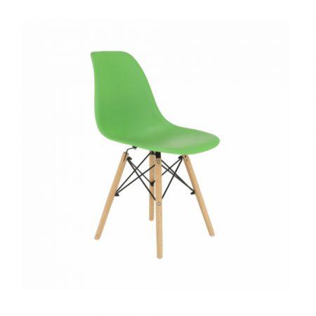 4 db modern szék konyha, nappali, étkező vagy kültéri használathoz-zöld