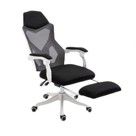 Helo Gamer szék lábtartóval fehér