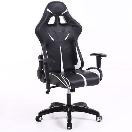 Sintact Gamer szék Fehér-Fekete lábtartó nélkül