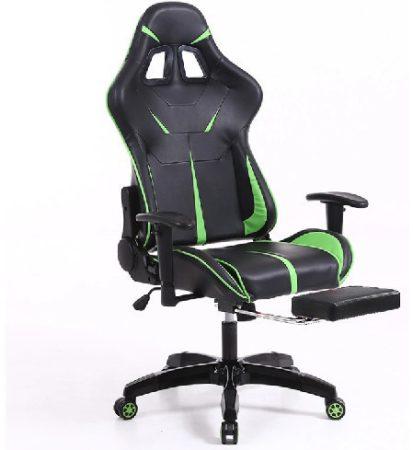 Sintact Gamer szék Zöld-Fekete Lábtartóval