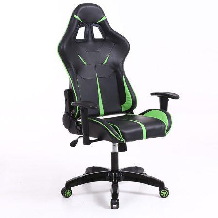 Sintact Gamer szék Zöld-Fekete Lábtartónélkül -Megérkezett!legújabb kialakítás,még kényelmesebb felület!