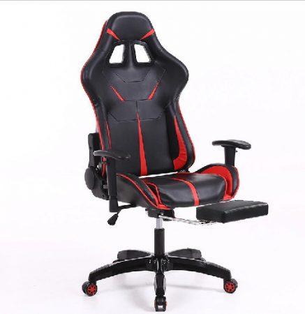 Sintact Gamer szék Piros-Fekete Lábtartóval