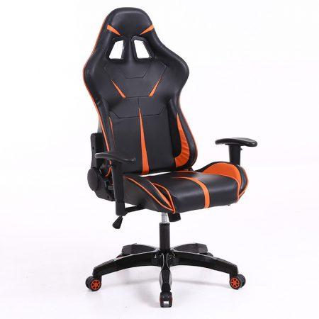 Sintact Gamer szék Narancs-Fekete lábtartó nélküli