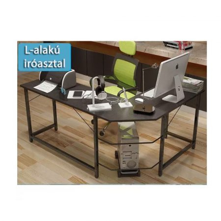 Számítógépes sarok asztal - sötét