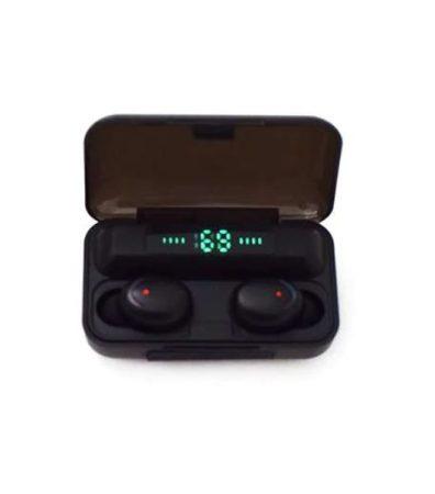 F9 Bluetooth fülhallgató, tokba épített töltővel / stereo headset