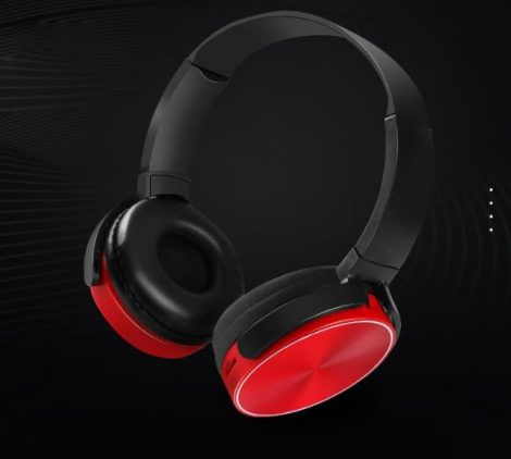 Crispy 450TB Piros Bluetooth fejhallgató