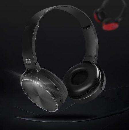 Crispy 450TB Fekete Bluetooth fejhallgató