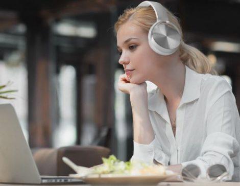Crispy 450TB Fehér Bluetooth fejhallgató