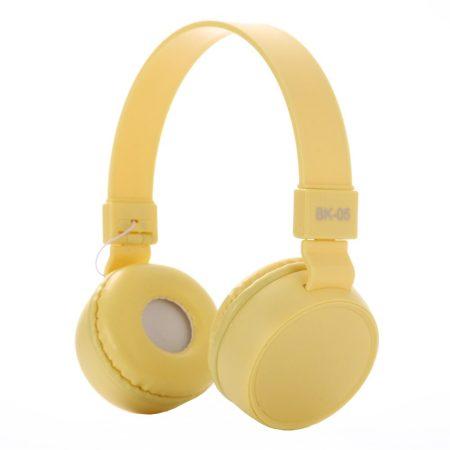Liro bk05 fejhallgató sárga