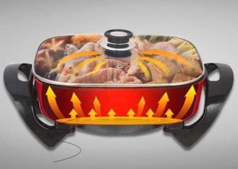 Homeland Elektromos serpenyő sütő
