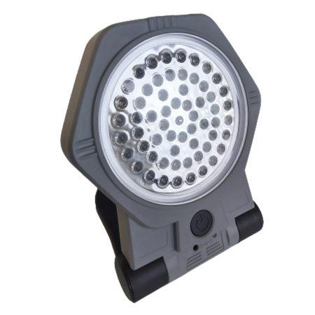 Akkus fényszóró mágnestalppal és felfüggesztőkampóval