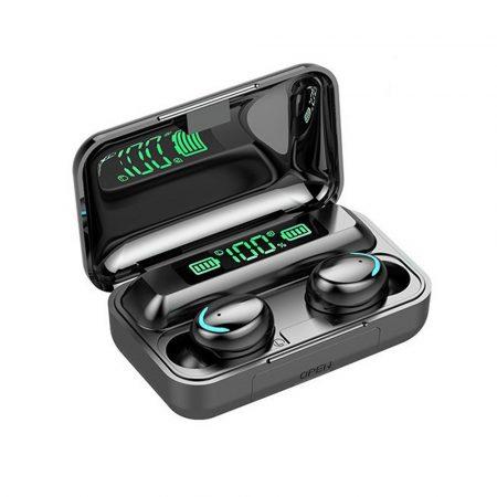 F9-10 TWS Bluetooth Headset - fekete