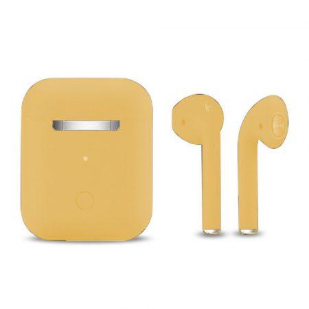 Inpods 12 Macaron Sárga - soft touch vezérléssel, matt felülettel