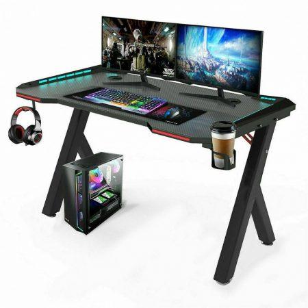 Apollon R5 Beépített ledes Gamer asztal 140cm*60cm*73cm