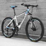 Laux Jack hegyi kerékpár kék-fehér hagyományos küllős kivitel