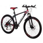 Laux Jack hegyi kerékpár piros -fekete hagyományos küllős kivitel