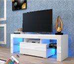 Homeland V1 tv tartó állvány - asztal beépített LED világítással
