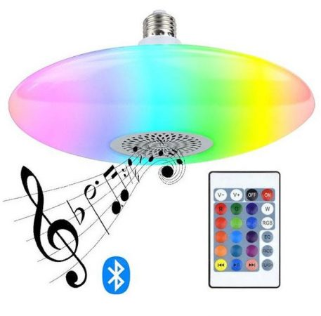 E27 RGB Bluetooth UFO lámpa hangszóróval + távirányítóval – 48W