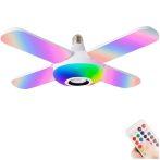 50 W-os E27 intelligens mennyezeti lámpa Bluetooth zenei lámpa RGB távirányítóval,összecsukható party világítással